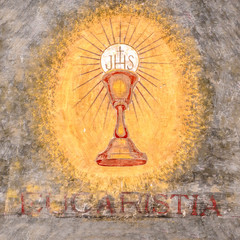 First communion chalice symbol