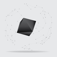 Abstract polygonal geometric shape. low poly and minimal style
