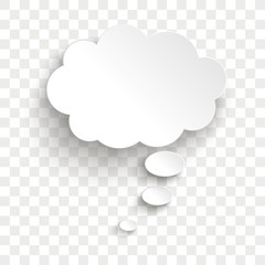 White Thought Bubble Cloud Transparent