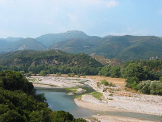 Achelous river in Acarnania and Aetolia Greece