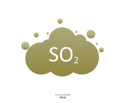 Sulfur dioxide symbol