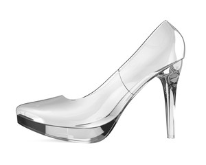 Crystal High Heel Isolated