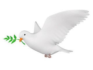 Dove of Peace Isolated