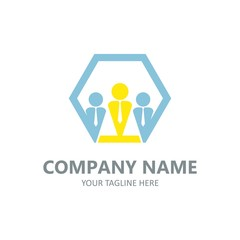 Finance business logo element vector emblem full colour illustration