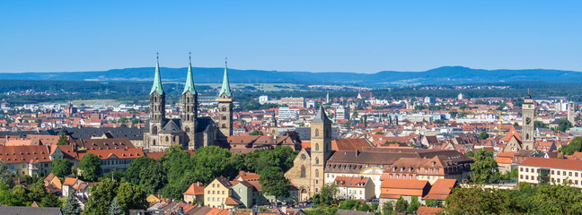 Panorama von Bamberg in Franken