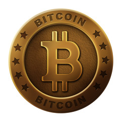 bitcoin image illustration (bronze)
