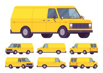 Yellow van set