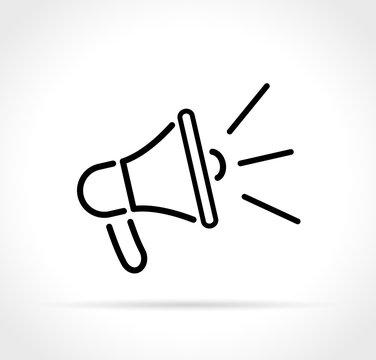 loud speaker icon on white background