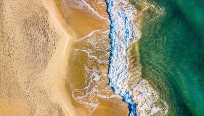 vue aérienne de la plage Fototapete
