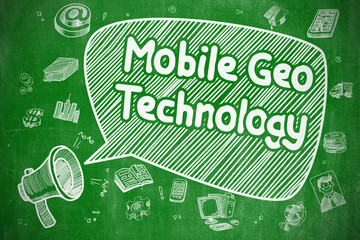 Mobile Geo Technology - Business Concept.