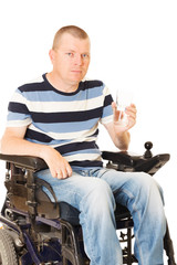 Young disabled man