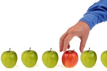 Choisir une pomme