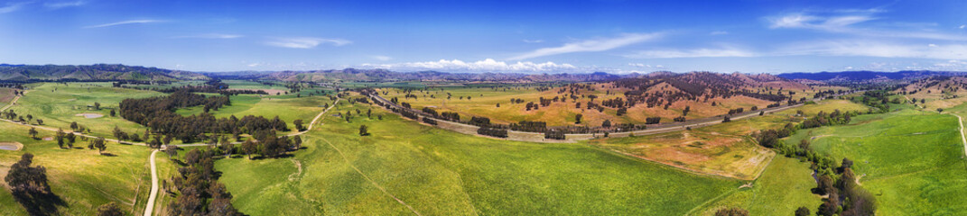 Drone Hume Plains Side Panorama Wall mural