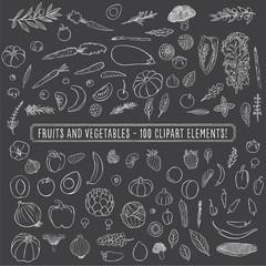 Chalkboard Fruits and Vegetables