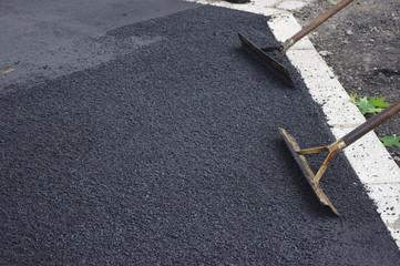 road works tarmac asphalt