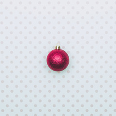 One Christmas decoration ball. New Year concept