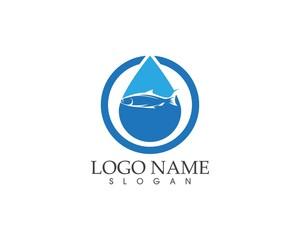 Fish logo design template