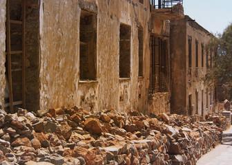 Spinalonga, Kreta ruiny fortu i wioski trendowatych