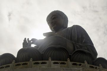 Sun on Buddha's palm