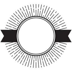 Monochrome retro style label design
