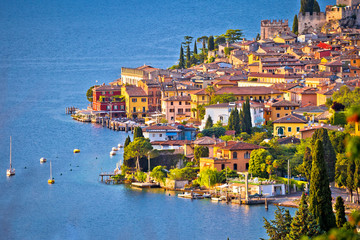 Town of Malcesine on Lago di Garda watefront view