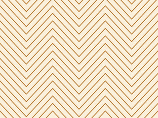 Linear gold geometrical zigzag background. Vector illustration.
