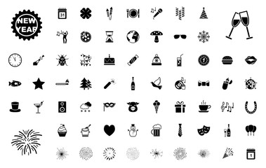 Großes Silvester-Iconset / Schwarz (Icons)