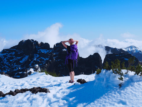 Madeira - Wanderpause auf dem Pico Ruivo