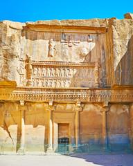 Ancient Tomb in rock, Persepolis, Iran
