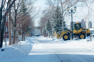 冬の生活道路 / 北海道 札幌市