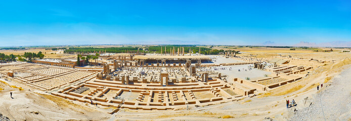 Panorama of Persepolis, Iran