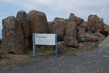 Pinnacles on Mount Wellington in Tasmania