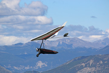 Hang Glider in the French Alps