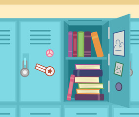 Books Lockers Illustration