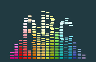 Abstract Abc Sound Wave Illustration