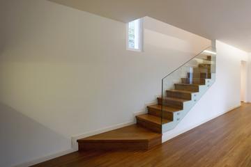 Closeup of modern stair