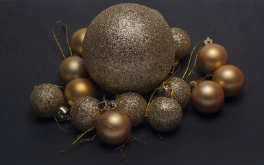 shiny ball on the Christmas tree