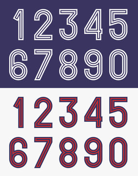 Vintage football jersey numbers