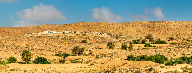 Typical Tunisian landscape at Ksar Ouled Soltane near Tataouine