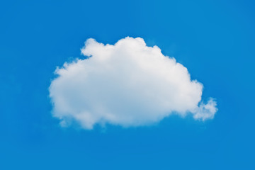 Single nature white cloud on blue sky background
