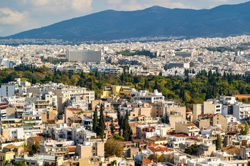 landscape of the city of Athens