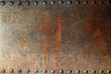 Old rusty texture with rivets