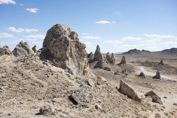 The Trona Pinnacles in the central California desert.