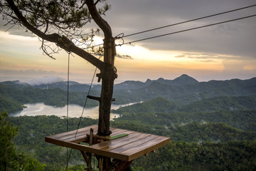 High Angle View Of Kalibiru National Park In Java, Indonesia