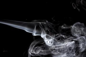 Movement of smoke,Abstract white smoke on black background