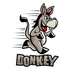 Funny donkey mascot