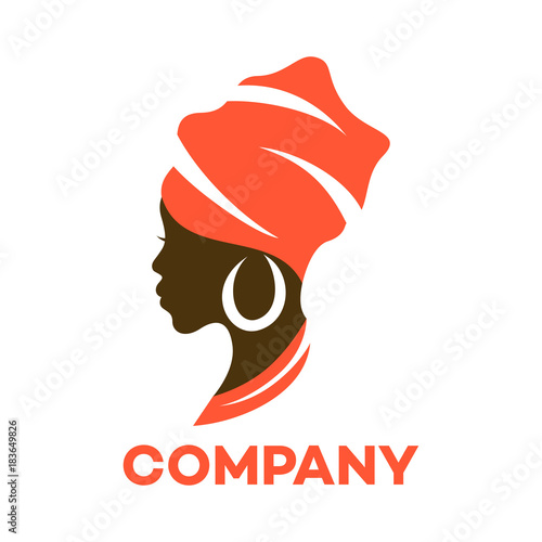 Quot Beautiful African Woman Logo Quot Stock Image And Royalty