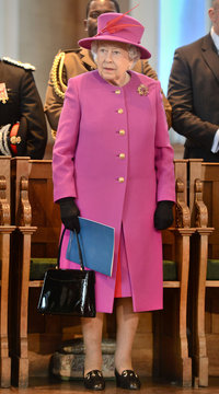 Britain's Queen Elizabeth attends Scripture Union's 150th anniversary service of celebration at St Mary's Church, in London