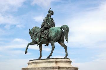 sculpture at Piazza Venezia in rome