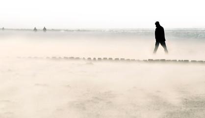 Sandsturm an der Nordsee
